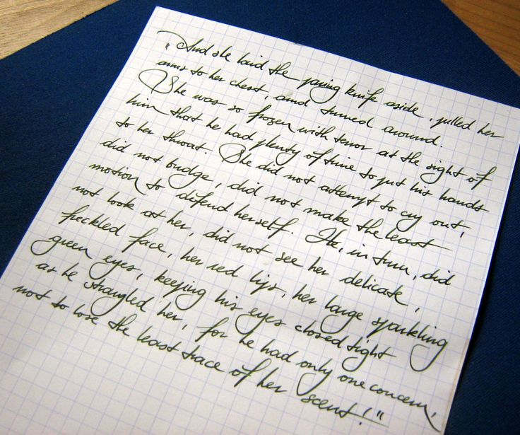 Posted sample from Fountain Pen Network.
