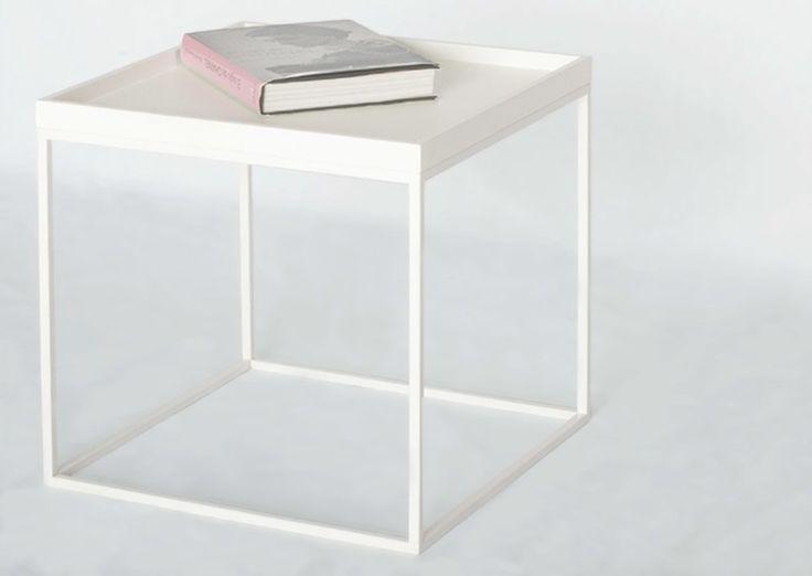 Mesa auxiliar blanca - Cube Deco: Tienda de muebles de madera maciza, mármol y acero