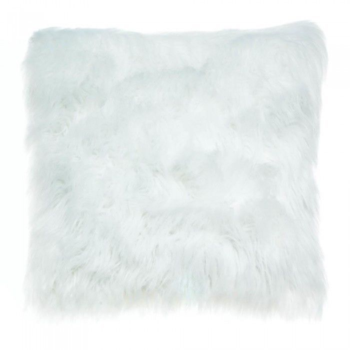 2 WHITE FAUX FUR THROW PILLOW #AccentPlus #CompletePillow