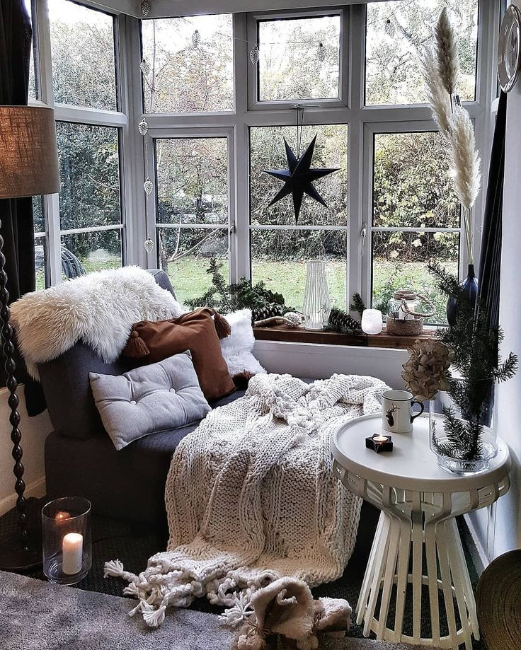 "TIMEOUT HOMES on Instagram: ""A must have in your home. Cozy corner 🌌 Tag someone who needs some home inspo asap. Christmas is coming soon why not…"