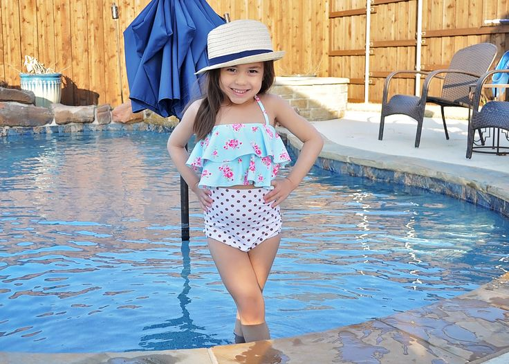 classy highwaisted swimsuit available in sizes 12/18m - 5t, 6y, 7y, 8y or 10y.  JOIN Sew Chill BST on Facebook.