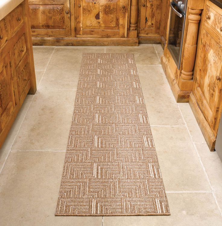 Fresh Brown Hallway Runner