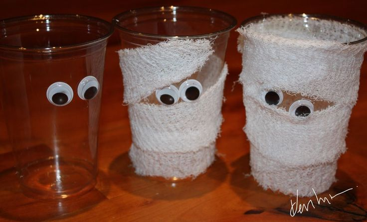 Halloween Arts & Crafts: Mummy Cup Pencil and/or Treat Holders ...