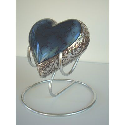 Pet Urns | Blue Heart Urn For Cat or Small Dog