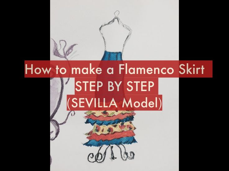 FALDA ROCIERA FLAMENCA !!! The Sevilla Model Rociera Skirt Pattern and instructions for cutting and sewing is available on our store. Visit us !!! www.flamencosewingpatterns.com