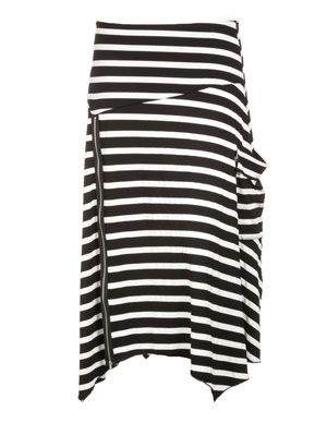 A-cut cotton skirt in Black / White designed by Isolde Roth to find in Category Skirts at navabi.de