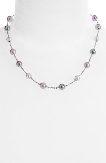 Majorica 8mm Round Pearl Illusion Necklace available at Nordstrom