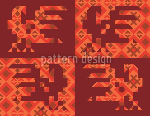 Anitas Ethno Rooster by Irina Arnautu available for download as a vector file on patterndesigns.com