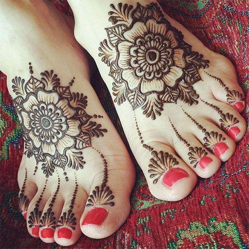 Floral Foot Henna Design #henna #mehndi