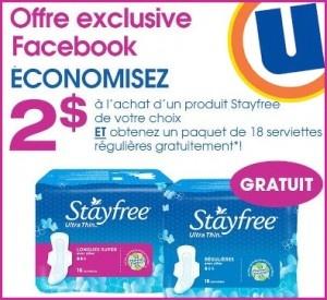 Obtenez 18 serviettes Stayfree gratuites!   http://rienquedugratuit.ca/coupons/serviettes-stayfree-uniprix/