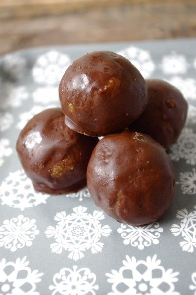 Chocolate Covered Gingerbread Bliss Balls