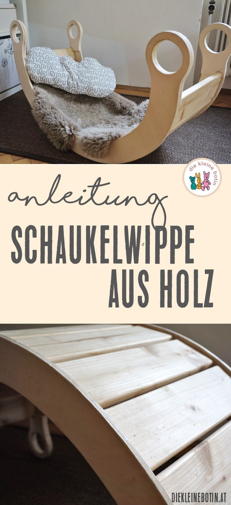 Schaukelwippe aus Holz