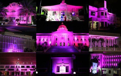Diversas instituciones públicas y privadas se han sumado a la campaña de concienciación y prevención del cáncer de mama