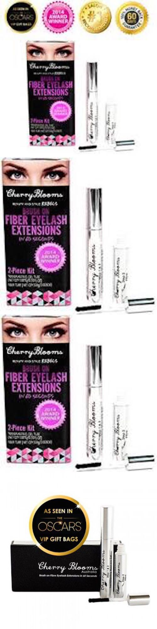 Mascara: Cherry Blooms Eyelash Extensions-Brush On Fiber Lashes In 60 Seconds (Authentic) BUY IT NOW ONLY: $35.99