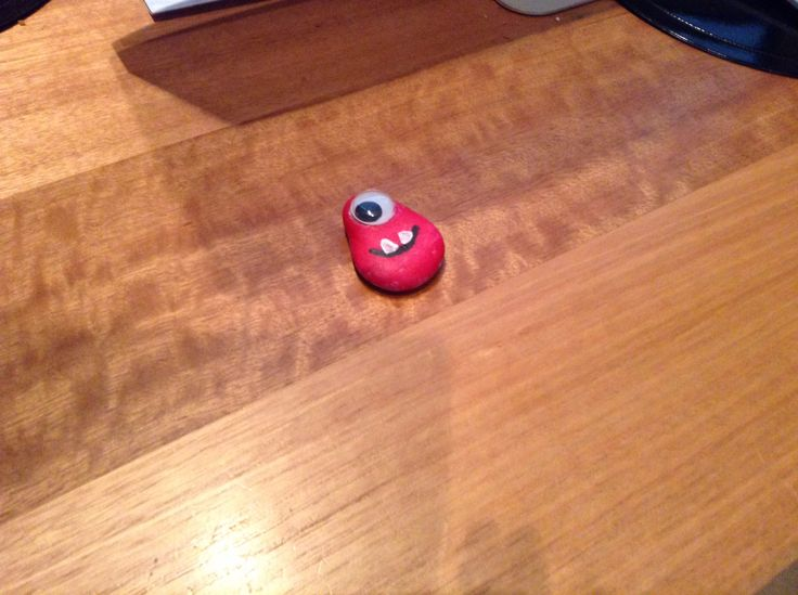 This is my own MOnSTEr   It's made out of a pebble and paint   Plz like it. 😛