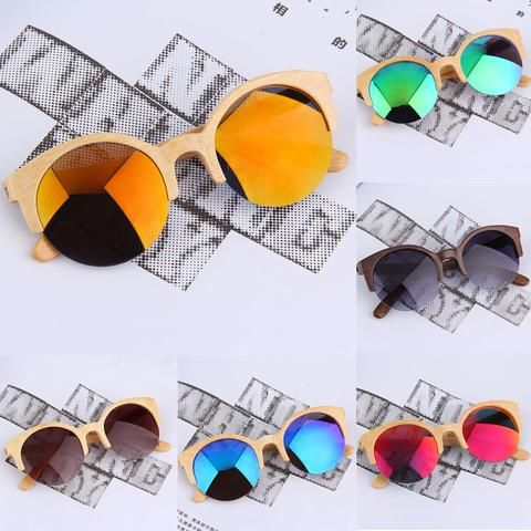 New Half Round Sunglasses Full Eyewear Bamboo Frame Glasses For Men Women Hot Selling - Vietees Shop Online - 1