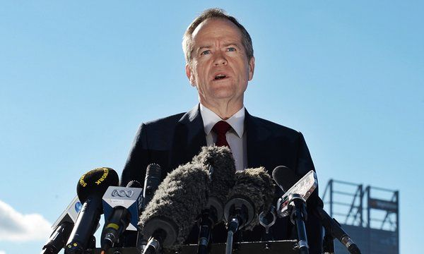 Opposition leader Bill Shorten addressed reporters at a press conference in Perth and answered questions on the ongoing controversy surrounding an opinion piece by NBN chairman Ziggy Switowski