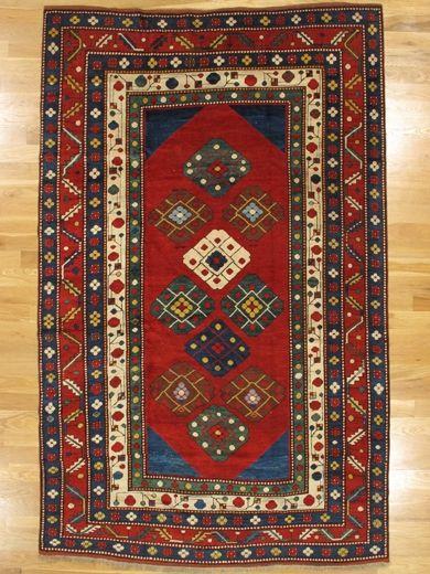 Lambalo Kazak Rug From Southwest Caucasus Age Circa 1885 Size 8