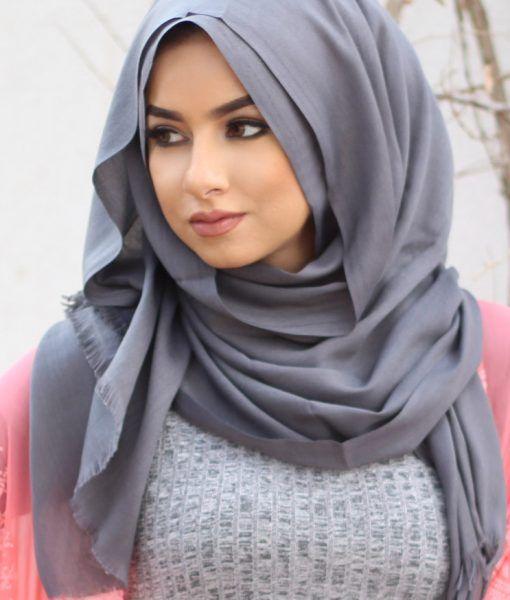 Gris turc Hijab - Soha MT Collection