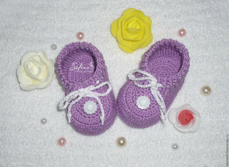 Купить Пинетки моксы для новорожденных, пинетки для фотосессии - комбинированный, пинетки, пинетки вязаные, пинетки для мальчика