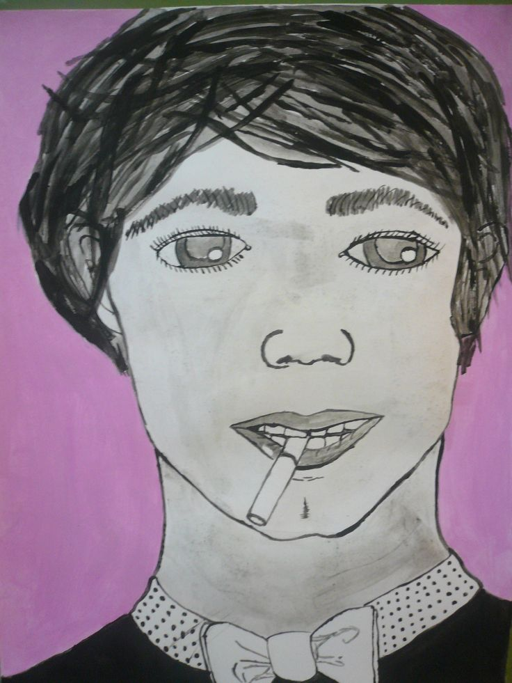 """""""Personaje"""". Pintura con acrílicos. Valentina C."""