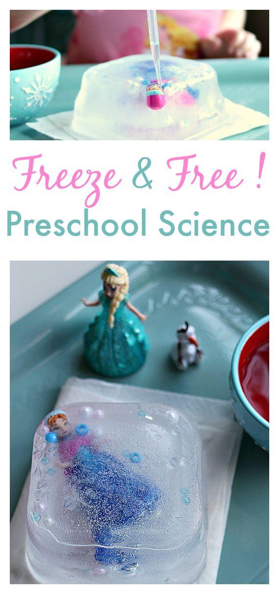 Frozen preschool science experiment
