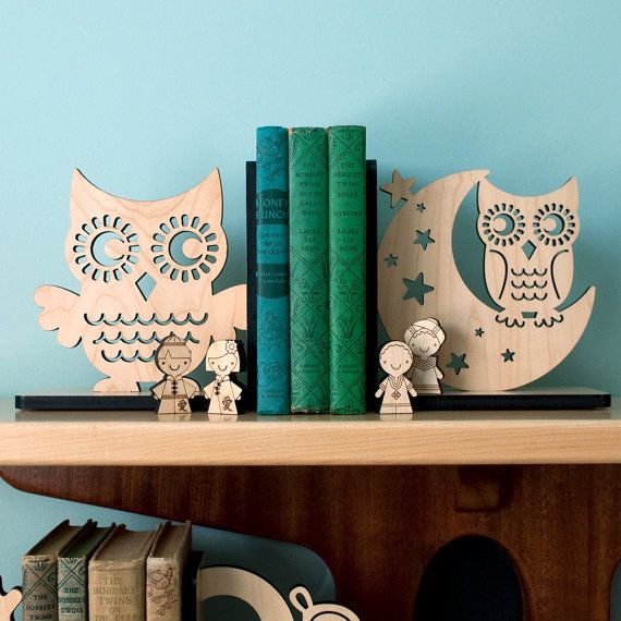love these owl bookends by graphicspaceswood on etsy