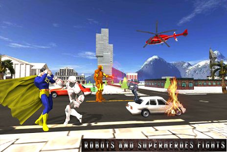 #superhero #robot #battle #action #fighting #city #rampage #save #dangerous #thrilling #missions #enemies #android #game