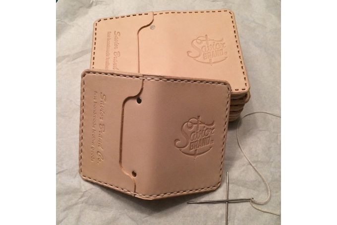 Ciao Blonde Slim Wallet ~ Natural Vegetable Tan by Savior Brand Co on hellopretty.co.za