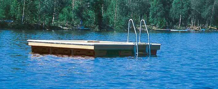 Badflotte 126 3383, 2.4×3.3m 8 AP-Block, 20 000kr inkl moms 126 4403, 2.4×4.45m 10 AP-Block, 24 000kr inkl moms Våra friflytande badflottar i paket är en storsäljare. Det är stabila flottar med skyddslist monterad runt om och en badstege så att man lätt kan ta sig upp på den. Vår intention är att uppnå högsta …