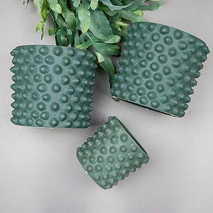 "trendsisters.se - Kruka ""Cloudy"" Medium (grön)"