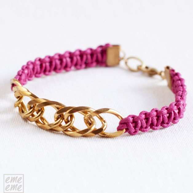 las 25 mejores ideas sobre pulseras de cadena en pinterest