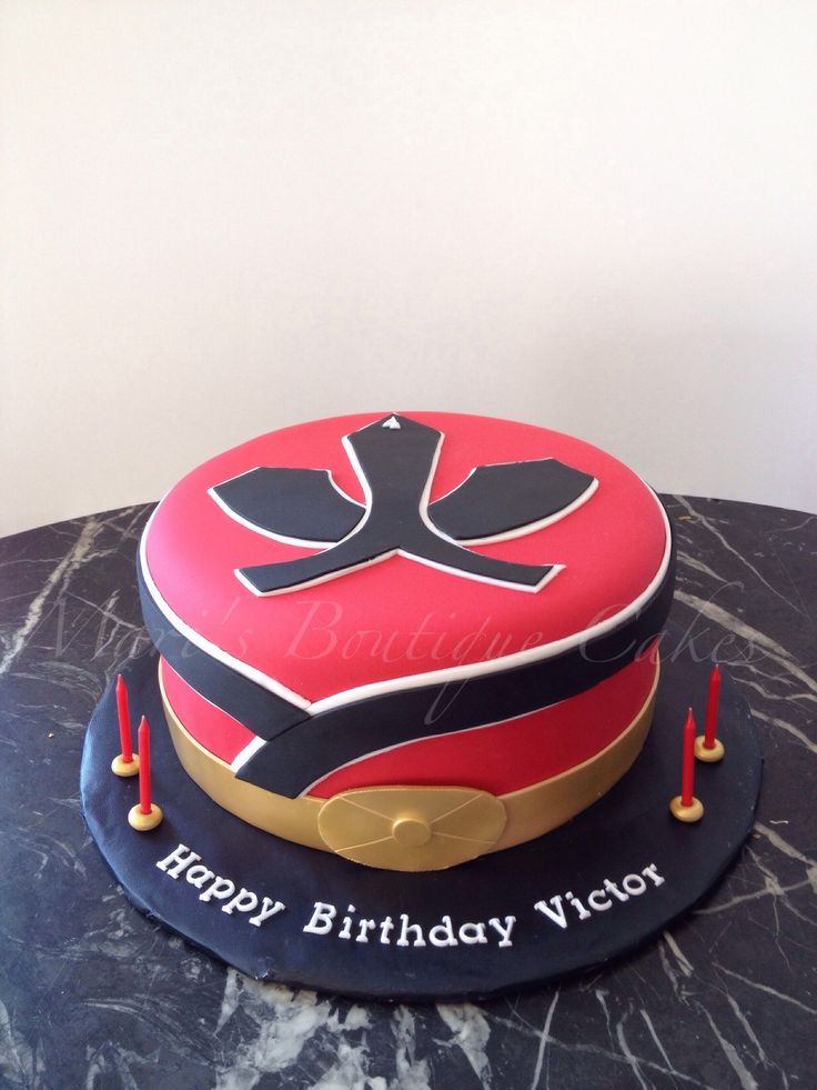 Red Power Ranger Cake - by Mari's Boutique Cakes