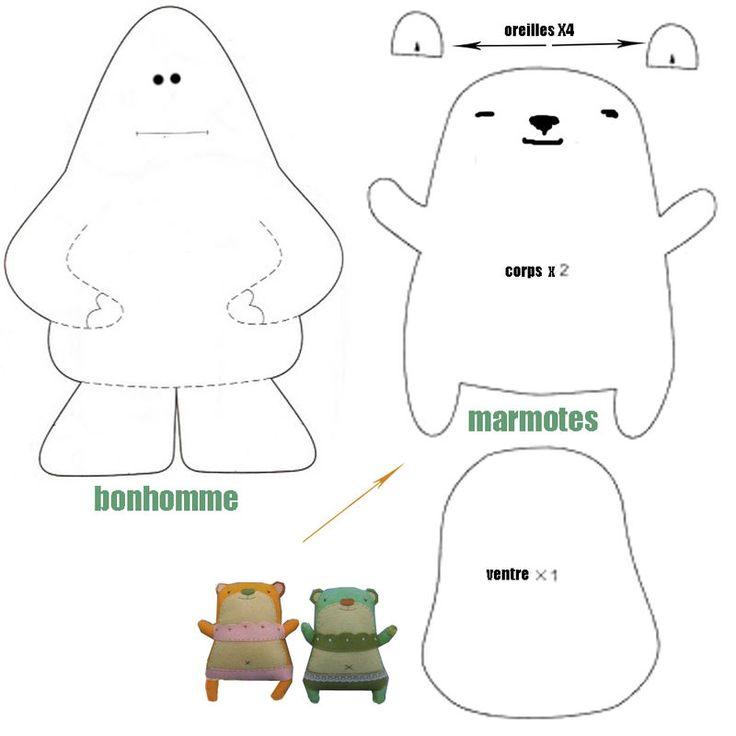 Doudou Marmottes ! Free (autres animaux et softies sur le site)
