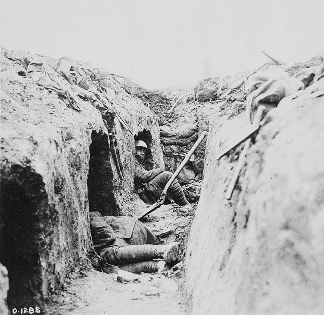 No matter how well built, trenches were wet and muddy, infested with rats, and worst of all, within range of enemy artillery and sniper fire.