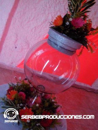 Baúl de Sobres de Cristal con Flores