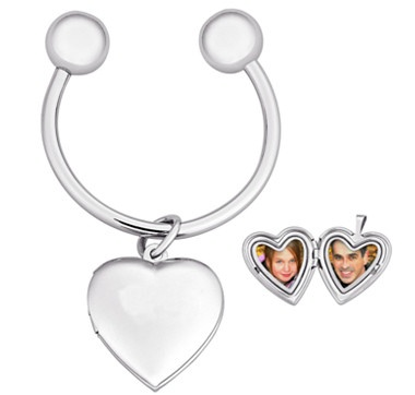 This lovely heart locket key chain from Limoges® lets you carry your love with you. #lovetoshop