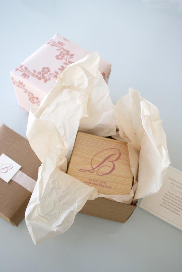 Very creative... wooden baby block baby shower invitations. Maybe DIY?