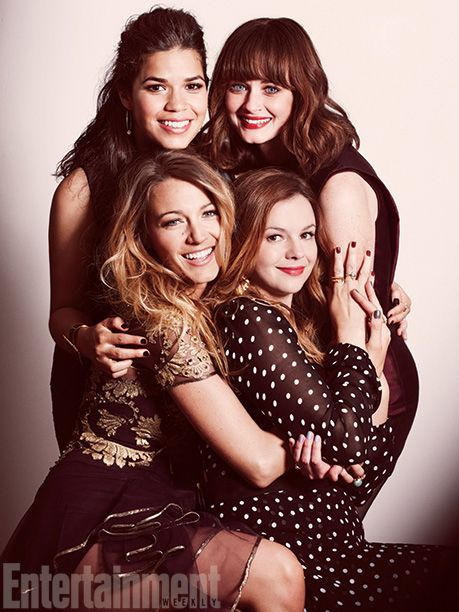 The Sisterhood of the Traveling Pants cast reunion for Entertainment Weekly, 2013
