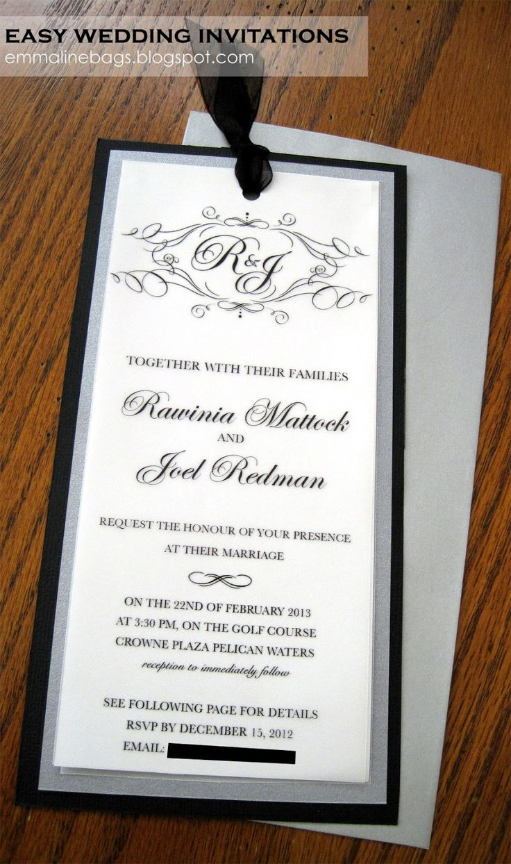 wedding card wordings simple%0A Emmaline Bags  Sewing Patterns and Purse Supplies  DIY Wedding Invitations