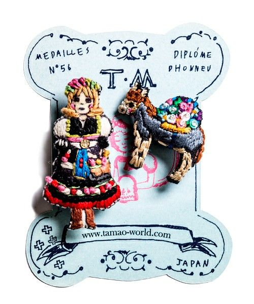 tamao(タマオ)の物語ミニブローチ1(赤ずきんとオオカミ/ロバと花売り少女/バーバーウサギとシャンプー/白雪姫と鏡/ワシリー教会とマトショーリカ)(ブローチ/コサージュ)|その他2