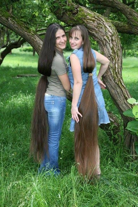 Beautiful Hair Mother And Daughter Long Hair