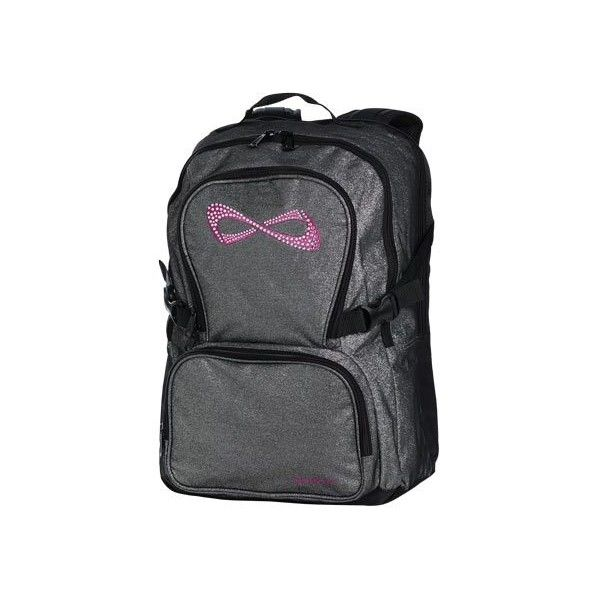 Sparkle Bling Nfinity Backpack | Team Cheer ($95) ❤ liked on Polyvore featuring bags, backpacks, gray backpack, sparkly bags, backpack bags, clear bags and rucksack bag