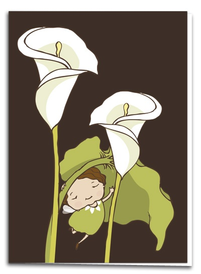 Kalla - illustration by Terese Bast  #flower #elf #teresebast #illustration