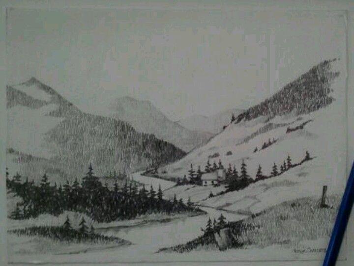 Pencil landscape