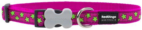 Red Dingo Designer Dog Collar, Lime Green Stars on Hot Pink (12mm x 20-32cm) XS No description (Barcode EAN = 9330725046221). http://www.comparestoreprices.co.uk/december-2016-5/red-dingo-designer-dog-collar-lime-green-stars-on-hot-pink-12mm-x-20-32cm-xs.asp
