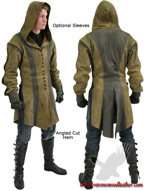 Hooded Jerkin. This channels the Ithilian Ranger for me.****I like the shoulders on this. Sleeves could be detatchable.