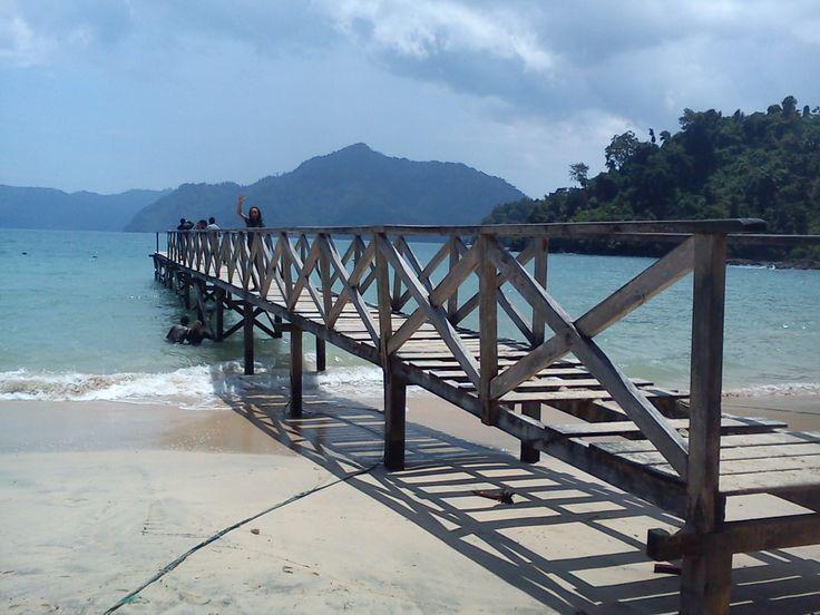 take a pict on ths old bridge..nice..in Pasir putih Beach Treanggalek East Java Indonesia