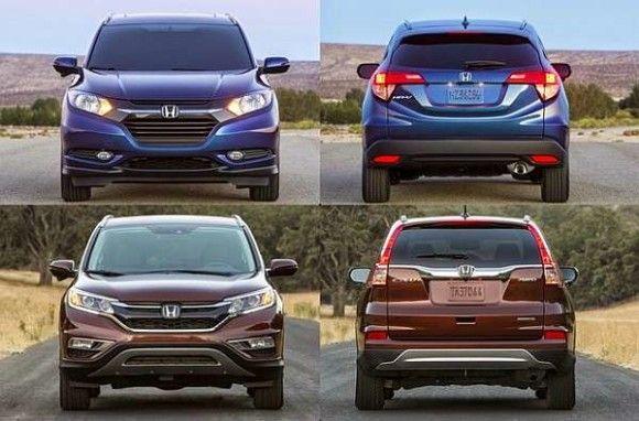 Honda Hrv Vs Crv >> 2016 Honda Crv Vs 2016 Honda Hr V Comparison Cars Honda Hrv