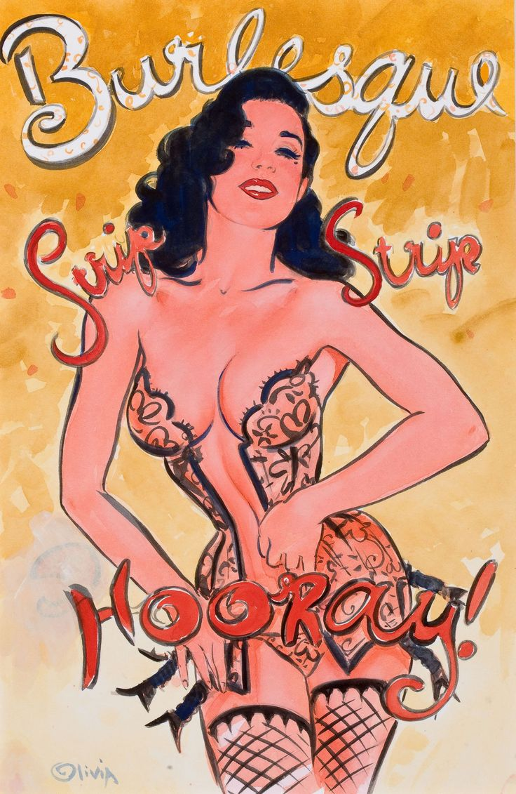 Olivia De Berardinis Dita Von Teese, Burlesque: Strip, Strip, Hooray, poster study